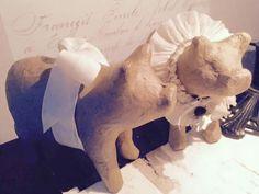 Hr. og Fru julegris. Christmas. Fransk landstil og vintage. Hvidt & Slidt, Studiestræde 3, 4300 Holbæk
