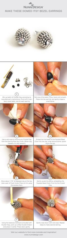Make these cute earrings with this easy Domed Itsy Bezel Tutorial!