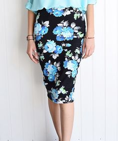 Look what I found on #zulily! Magic Fit Royal Blue Pencil Skirt by ...