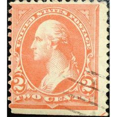 United States, Washington, Two Cents, postage, 1890 used