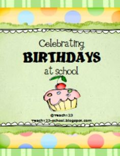 FREE Celebrating Birthdays at School