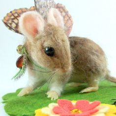Butterfly Fairy Mouse felted