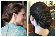 Hair and Make-up by Steph: How To: Kate Middleton Updo - good step by step instructions. Need to have moderate styling ability and knowledge of bobby pins to hold hair in place.