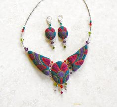 felted jewelry - Google Search