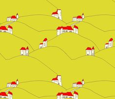countryside_architecture fabric by holli_zollinger on Spoonflower - custom fabric
