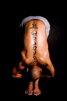 60a932ef99290 Chakras Tattoo on Back for Man - this actually looks very cool!! Spine  Tattoos