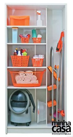 """Visit our internet site for additional info on """"laundry room storage shelves"""". It is a superb spot to learn more. Utility Room Storage, Utility Closet, Laundry Closet, Cleaning Closet, Closet Storage, Storage Room, Laundry Rooms, Home Organisation, Laundry Room Organization"""