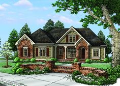 Floor Plan AFLFPW76568 - 2 Story Home Design with 4 BRs and 3 Baths