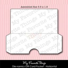 My Favorite Things Die-namics - Gift Card Pocket Horizontal