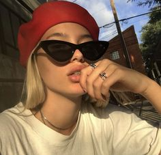 Women Sunglasses Cool Eyeglasses Cool Glasses For Women Red Glasses – hhshoop Cute Sunglasses, Cat Eye Sunglasses, Sunglasses Women, Sunnies, Summer Sunglasses, Vintage Sunglasses, Calvin Klein Pullover, Chica Cool, Cool Glasses