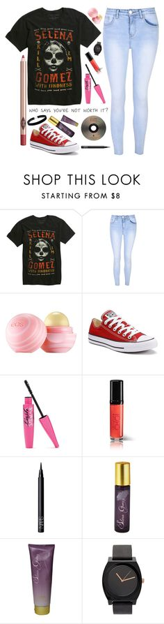 """""""Who Says Your Not Worth It?"""" by barbiecar ❤ liked on Polyvore featuring Glamorous, Eos, Converse, NARS Cosmetics and Charlotte Tilbury"""