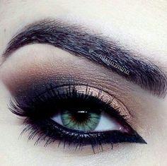 Copper smokey eye #eyes #eye #makeup #eyeshadow #dark #dramatic #smokey