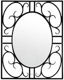 rectangular iron mirror