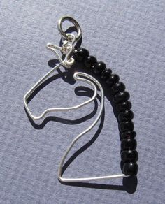 Handmade .925 Sterling Silver Wire Horse Silhouette Pendant  39mm L X 26mm W by TreasureEverywhere on Etsy