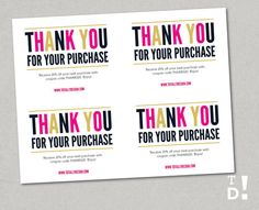 Business thank you cards template instant download naturally thank you for your purchase printable instant by totallydesign purchase card sugar boutique thanks wajeb