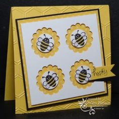 Mary's video on making windowpane cards.