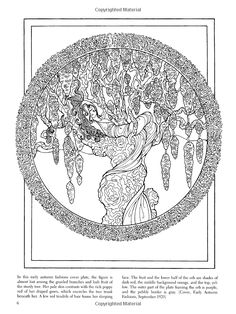 Grapevine Goddess Coloring Page
