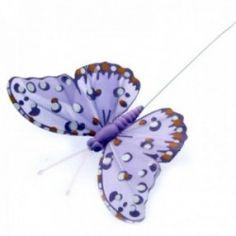 12pcs per pk, on a 20cm Wire 10cm Glitter Butterflies Corsage Creations Gold