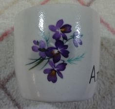 Small Vintage Flower Holder At All Costs Floral Strong-Willed New Devon Pottery Newton Abbot
