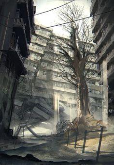 NieR:Automata - Environment Concept Art