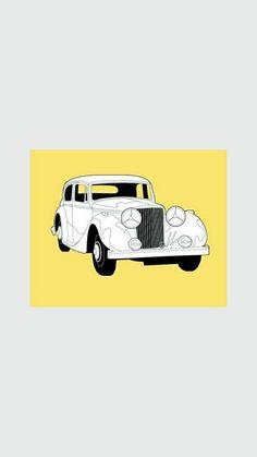 Classic Car News – Classic Car News Pics And Videos From Around The World Mercedes Benz Amg, Wall Collage, Cartoon Art, Jaguar, Colored Pencils, Playroom, Color Pop, Digital Prints, Classic Cars