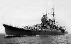 Japanese cruiser Mogami, lead ship of the Mogami class of heavy cruisers in 1935, when she entered service in the Imperial Japanese Navy.[1980 × 1215]