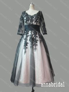 Hey, I found this really awesome Etsy listing at https://www.etsy.com/listing/203545817/vintage-black-tulle-prom-dresses-with
