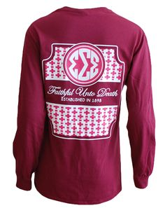 Sigma Sigma Sigma Faithful Longsleeve Adam Block Design