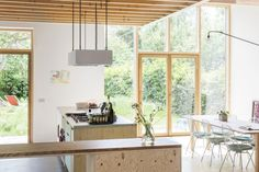Interior Architecture, Interior And Exterior, Home Design, Interior Design, Kitchen Dinning Room, Minimal Home, Concrete Floors, Great Rooms, Home Kitchens