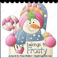 Belongs to Frosty 1 Clip Art Single
