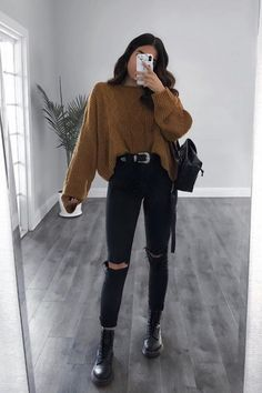 Casual College Outfits, Trendy Fall Outfits, Casual Winter Outfits, Winter Fashion Outfits, Simple Outfits, Stylish Outfits, Feminine Fall Outfits, Back To College Outfits, Back To School Outfits For College