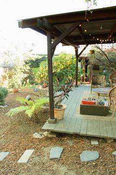 Annie's Indoor/Outdoor Backyard - Modern Outdoor Spaces, Indoor Outdoor, Outdoor Decor, Outside Living, Outdoor Living, Porches, Verge, Gardening, Garden Spaces