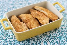 Oven Fried Parmesan Chicken Tenders makes a quick, healthy, and kid-friendly dinner. Double and freeze a batch for later with the included freezer meal instructions!