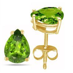 7x5 Pear Shape Peridot Earrings In 14k Yellow Gold ($165) ❤ liked on Polyvore featuring jewelry, earrings, yellow, 14 karat gold jewelry, gold earrings, yellow gold earrings, peridot jewellery and gold jewellery