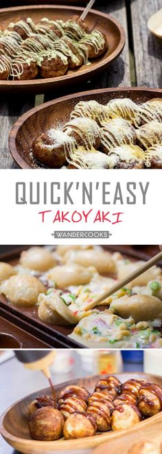 A Quick and Easy Takoyaki recipe you can cook in minutes with just one chopstick. Make at home using secret topping combinations found in Hyuga, Japan. | wandercooks.com