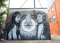 Le festival MURAL de retour à Montréal: murale de Christina Angelina (Photo: André Bathalon)   Elle Québec