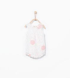 Neon polka dot romper suit-Outfits and romper suits-MINI | ZARA United States