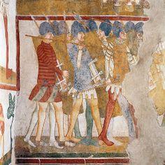 Casa delle Guardie, affresco, metà XIV sec - Castello di Avio, Sabbionara di Avio. Foto © Vivi Papi