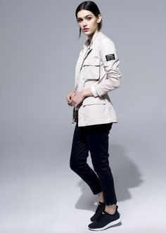 Ecoalf Helena Saharianne White Sand jacket made from recycled materials