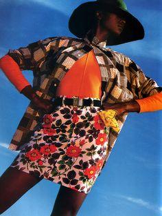 Gilles Bensimon for Elle magazine, May 1988.