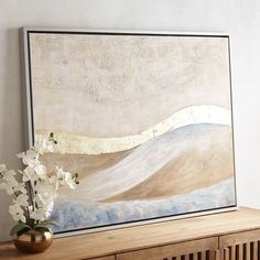 With our viewpoint from the shoreline, the water's never-ending energy is mesmerizing, making it easy to lose yourself in the rhythm of the waves. Create a calming presence in your home with our acrylic-over-cotton canvas scene of sea and sky.