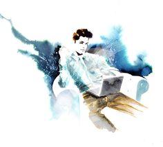 Amelie Hegardt #fashionillustration #mens fashion  #techworld #lifestyle #men #mens style #watercolor illustration #trafficnyc #purchaseprints #trafficnyc.com