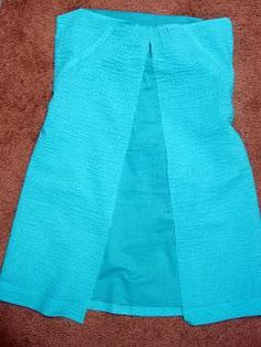 DIY Clothes DIY Refashion DIY He Me Tale of a Teal Skirt