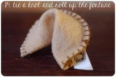 A tutorial on how to make a felt fortune cookie with an Epson ribbon printer.