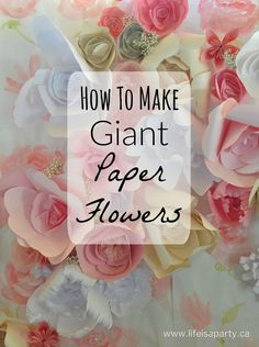 If you've ever wondered about making giant paper flowers for yourself, or for a special event and worried that they're too hard to make, let me reassure you they're not, and show you how to make th…