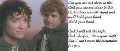 Sam and Frodo ~ Timshel by Mumford and Sons