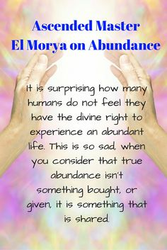 Ascended Master El Morya Abundance Guidance through Angel Messenger Jill Harrison