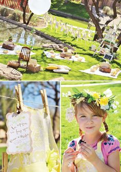 Sound of Music Inspired Bloom & Grow Birthday Party - love the feminine style and summertime look