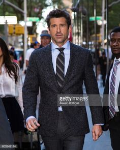 Fotografía de noticias : Patrick Dempsey is seen leaving 'Today' TV Show...