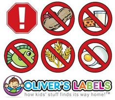 Protect your kids with allergies. Personalized Name Labels.  For School, Daycare, Sports, Camp.  Even great for adults too!